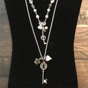 Jewelry - Key & Charms Tiered Necklace